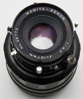 Mamiya-Sekor Mamiya Sekor Seiko P 127mm 127 mm 1:4.7 4.7 für Mittelformat