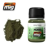 Ammo of Mig Jimenez ARMY GREEN Modelling Pigment 35 ml #3019