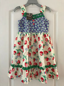 NWT Matilda Jane 10 Happy and Free Strawberry Crumble Dress New