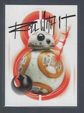 2017 Star Wars The Last Jedi Series One Resist!  #R7  ROLL WITH IT