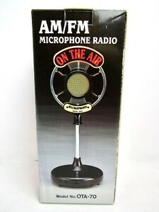 On The Air OTA-70 AM FM Radio Novelty Vintage Style Microphone - New in Box