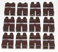 LEGO LOT OF 12 DARK BROWN MINIFIGURE LEGS PANTS BODY PARTS PIECES