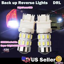 2 pcs 3156 3157 High Power LED Reverse Back Up Light Bulb Projector Lens White