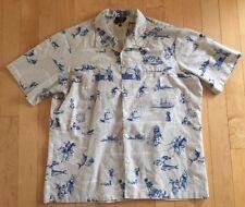 RARE Vtg IOLANI Hawaiian Shirt For AIRWAY EXPRESS Maui Lanai Oahu Molokai Kauai
