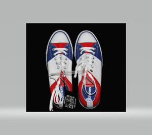 Converse Fly Your Colors Red White Blue Wide Stripes Shoes Size M-13 W-15 NEW!