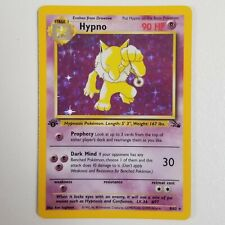 Hypno 1st Edition Holo Rare Pokemon Card - 8/62 Fossil Set - NM/MINT