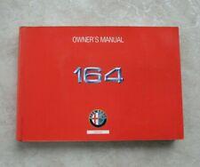 Alfa Romeo 164 Owner's Manual Oem