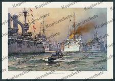 Wilhelm II Kaiserliche Marine Flottenmanöver U-Boot Helgoland Wilhelmshaven 1912