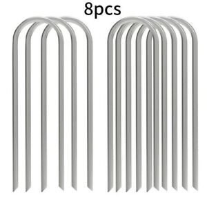 Trampoline Stakes U-Shaped Metal Football Goal Pegs Reusable Tent Ground Anchors