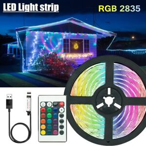 LED light strips decoration lighting USB infrared remote control ribbon lamp for