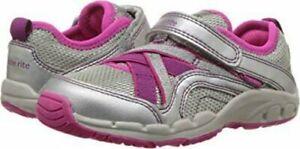 NIB STRIDE RITE Athletic Shoes M2P Nicole Silver Pink Shimmer 9 11 12 M XW