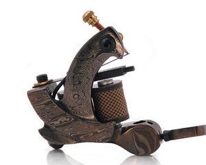 Damascus Series CLAW (SHADER) 10-Wrap Short Coil Tattoo Machine Steel Supply