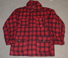 Vtg Woolrich Red Plaid Hunting Jacket Shirt 1950s