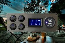 Vw T25 Campervan 4x Switches Voltmeter 2.1A USB