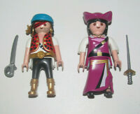 Playmobil Figurine Personnage Lot Pirate Homme + Femme & Accessoires Sabre New