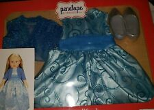18 Inch doll Clothing - Looks great on American Girl dolls - Winter Blue Dress
