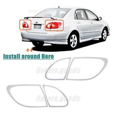 Accessories Chrome Taillight Covers Trims For Toyota Corolla Sedan 2003-2008
