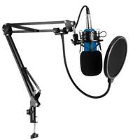 Condenser Pro Audio BM-800 Microphone Sound Studio Mic +Shock Mount+Stand+Filter