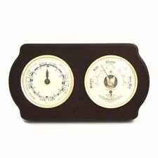 New Bey Berk Tide Clock & Barometer With Thermometer On Ash Wood