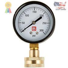 New listing Water Pressure Test Gauge Waterflow Meter Tester Home Garden Hose Measuring Tool