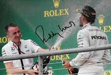 Paddy Lowe SIGNED F1 Mercedes CEO (Technical) Portrait with Lewis Hamilton