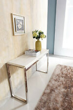 Dara Stainless Steel Console With Marble Top (one left)