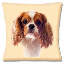 "NEW TAN BROWN WHITE CAVALIER KING CHARLES SPANIEL PHOTO 16"" Pillow Cushion Cover"