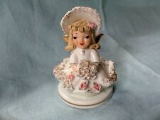 "RARE Vintage Lefton China Hand Painted ""Miss Muffet"" Angel Figurine 808 B"