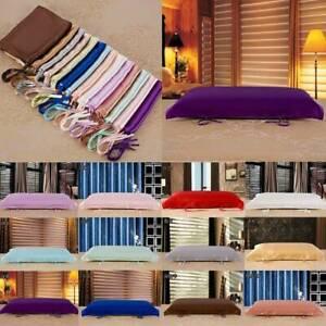 100% 16 Momme Mulberry Pure Silk Pillow Towel Case Cover Soild Belt Pillowcase