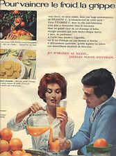 PUBLICITE ADVERTISING    1959   ORANGES  jus d'orange