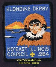 LMH PATCH Badge  1984 KLONDIKE DERBY  Boy Scouts BSA  North East Illinois IL