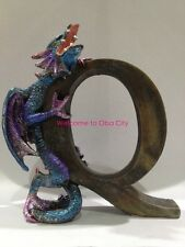 "Purple Dragon Alphabet ""Q"" Dragon Statue Dragon Figurine Spell your Name or More"