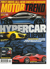 MOTOR TREND, AUGUST, 2013 ( FIRST DRIVER: ALL- NEW CHEVY SILVERADO * HYPER CAR )