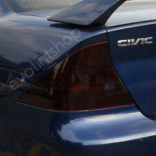 01-05 Civic 2Dr Smoke Tail Light Tint Cover Blackout