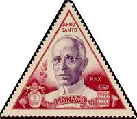 "MONACO N° 354 ""ANNEE SAINTE PIE XII 50 C"" NEUF xx  TTB"
