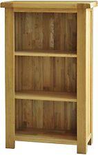 Bracken solid oak living room office furniture small narrow bookcase