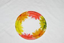 """Fall Flower Paper Party Plates - 8.75"""" round, 8 pack"""