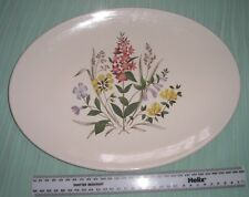 VINTAGE RIDGWAY COUNTRY GARDEN FLORAL LARGE OVAL SERVING PLATE