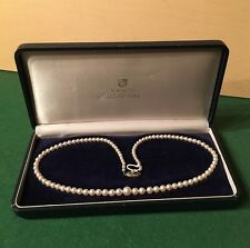VINTAGE MIKIMOTO GRADUATED PEARL NECKLACE STERLING W/BOX NO RESERVE