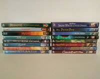 Lot of 16 Disney Movie DVDs Pocohantas Rescuers Snow White Peter Pan Tinkerbell