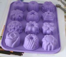 Molde De Torta Molde De jabón corazón floral de Silicona Molde para Dulces y Chocolates hielo fimo