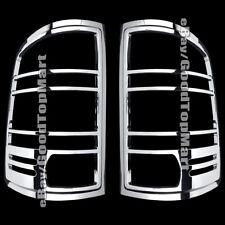 For GMC Sierra 2007-2011 2012 2013 Chrome Rear Tail Light Taillight Bezel Covers