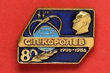 USSR Badge Cosmos 80 year Korolev Pin (1508)