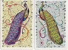 P6 genuine VINTAGE swap playing cards LOVELY PEACOCKS gold details BIRDS