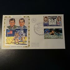 MONACO N°829/830 SPACE SPACE ON LETTER COVER 1ST DAY FDC 1970