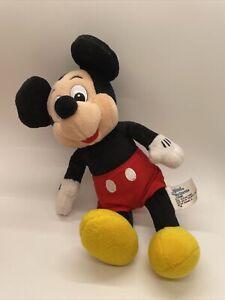 Vintage Disneyland Mickey Mouse Plush Doll Stuffed Toy Walt Disney World