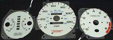 96-00 Honda Civic EX LX SI Automatic AT w/ tachometer White Face Glow Gauges Kit