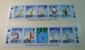 Foreign Souvenir Sheets Solomon Is. Scott# 571-572 American Cup 1986 MNH H121
