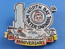 NORTH BAY WINTER CARNIVAL 10th ANNIVERSARY 1983 93 BUTTON SOUVENIR PIN COLLECTOR