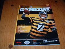 BALTIMORE RAVENS @ PITTSBURGH STEELERS GAMEDAY MAGAZINE PROGRAM 11/18/2012